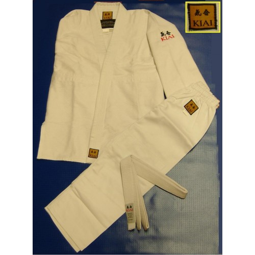 KIAI Judo or Aikido Kids White Uniform 450gm