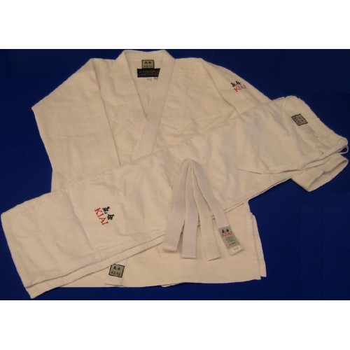 KIAI - Single Weave Gi -450gm Silver Judo or Aikido gi