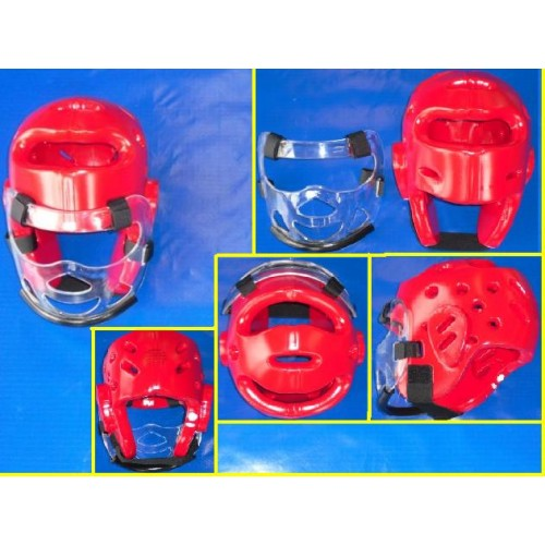 Red-Head-Guard-Single-Foam-With-Face-mask