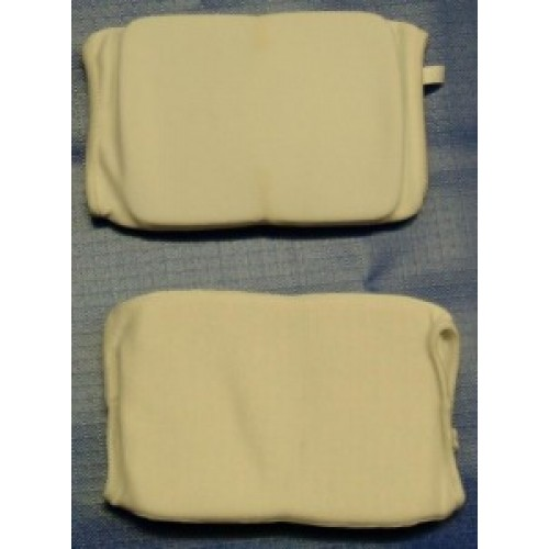 White Elasticated Knee Pads